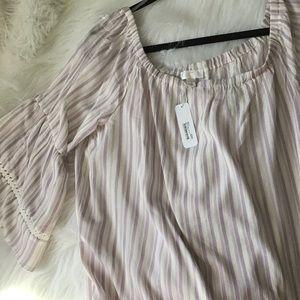 NWT Lavender Striped Shirt by Charming Charlie